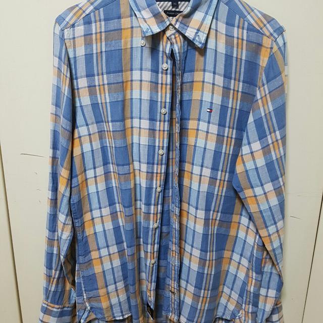 [XS] (타미힐피거 린넨체크남방) 남자셔츠 - 상품이미지