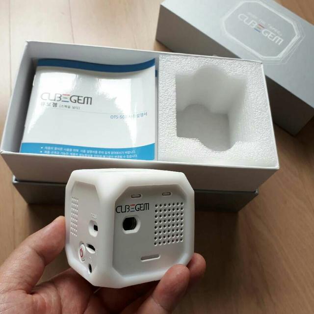 ☆가정용 휴대용 미니빔프로젝터 큐브젬(미사용 새제품) - 상품이미지