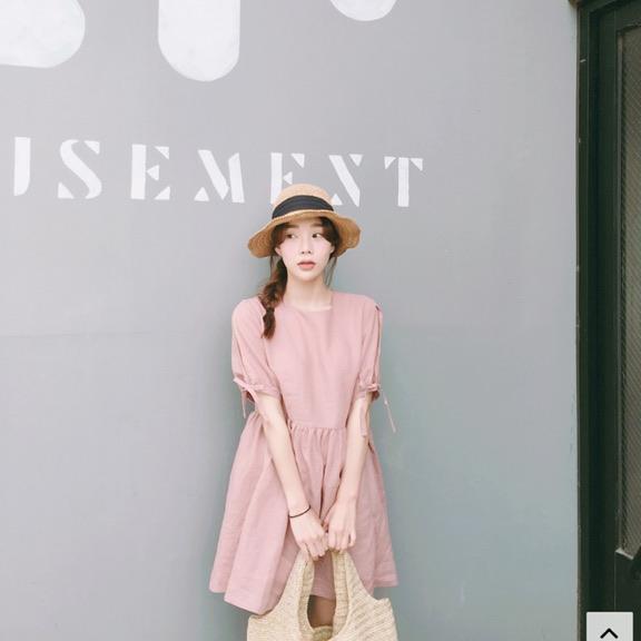 [새상품] 딸기마카롱 원피스 - 상품이미지