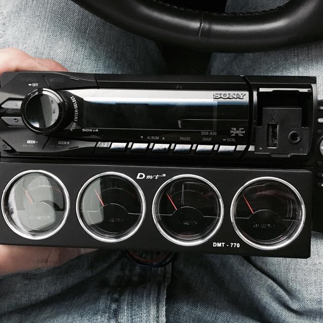 SONY 카오디오 팝니다. USB AUX CD - 상품이미지