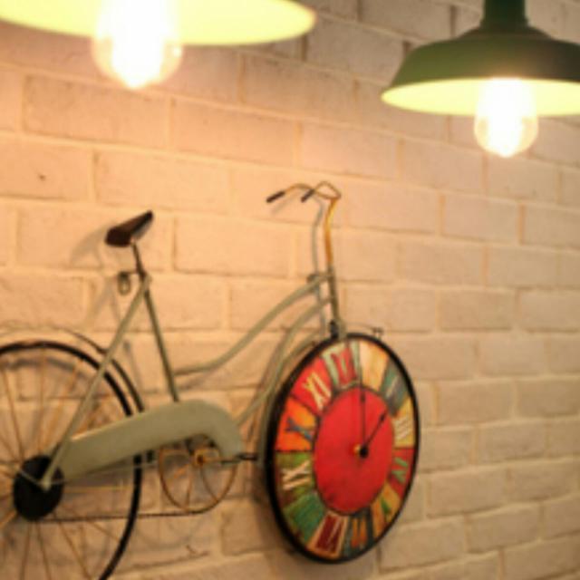 [빈티지]생일,집들이,매장,카페 개업선물(자전거 벽시계) - 상품이미지