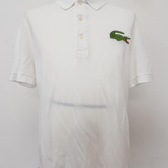 [100] 라코스테 피케셔츠 화이트 반팔 상태 양호 - 상품이미지