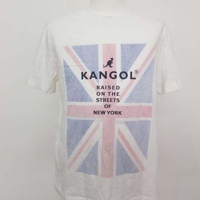 [L] 캉골 L 라운드 화이트 티셔츠 - 상품이미지