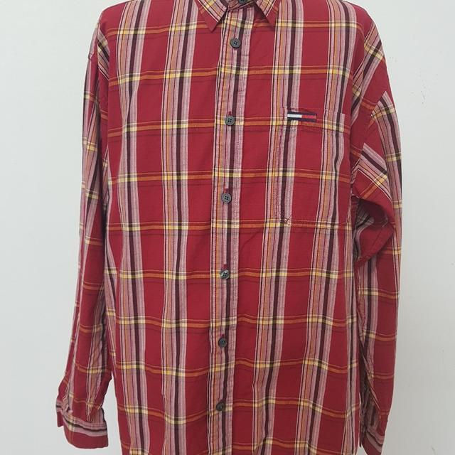 [L] 타미힐피거 체크셔츠 남방 - 상품이미지