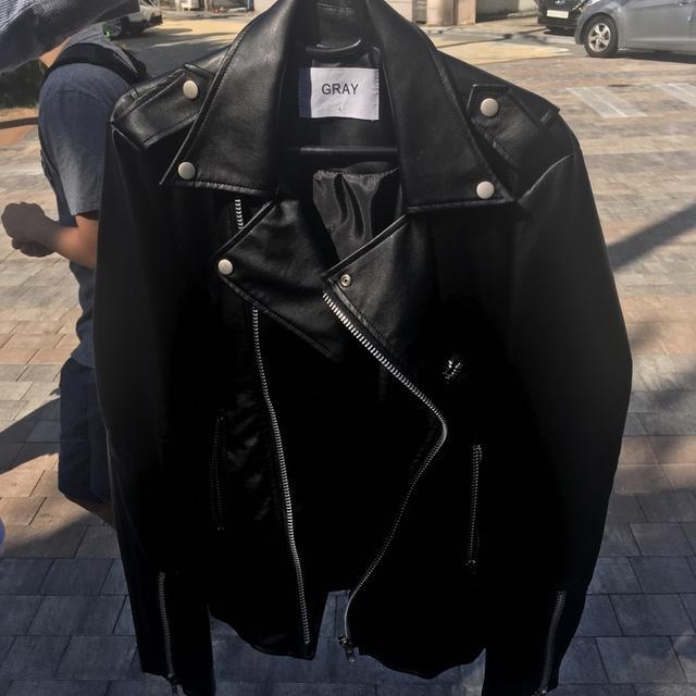 m-L 발렌시아가st 라이더 자켓 무배 원가 7.8에삼 새상품 - 상품이미지