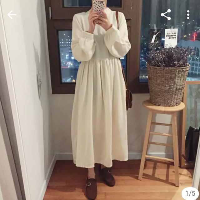 [FREE] 아이보리 원피스 - 상품이미지