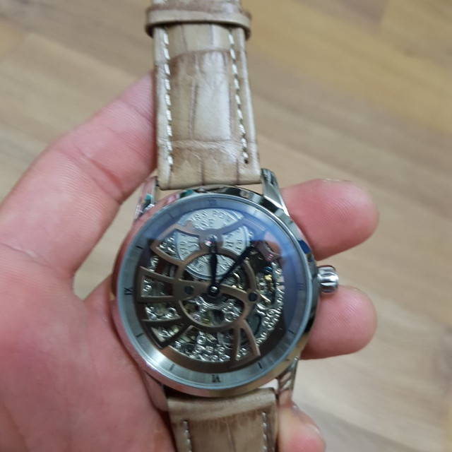 (가격인하)율리스나르딘 스켈레톤 오토매틱 시계 - 상품이미지