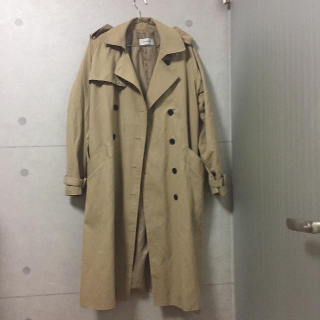 롱 코트 롱 트렌치 코트 가을 아우터 55-77 착용가능 - 상품이미지