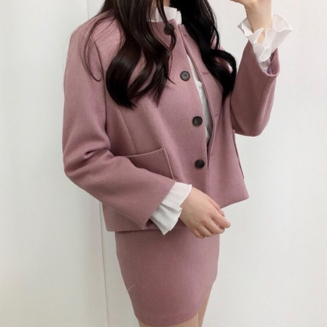 분홍 투피스 - 상품이미지
