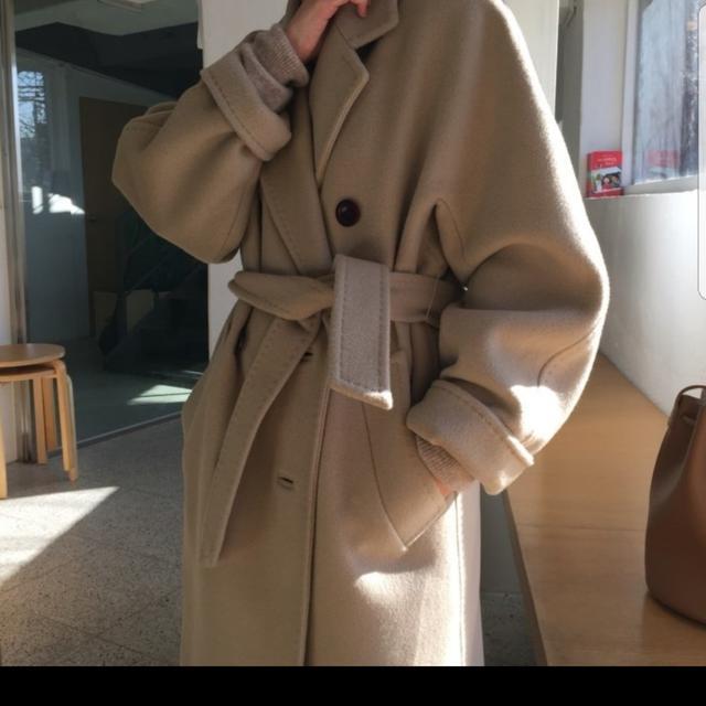 [FREE] 더블 캐시미어울 핸드메이드 코트 (이중지) - 상품이미지