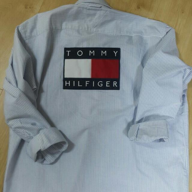 [M] 타미힐피거 빅로고 스트라이프 셔츠 판매해요 - 상품이미지