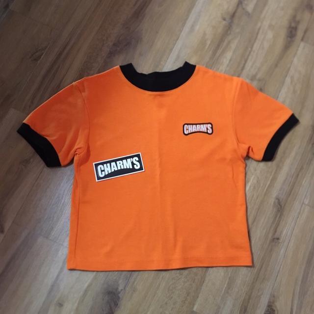[FREE] 참스 크롭티 (오렌지) - 상품이미지