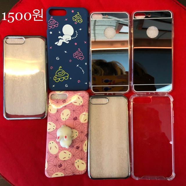 새것‼️ 남은케이스 모조리1500원. 기본투명1000원 아이폰7~8플러스 - 상품이미지