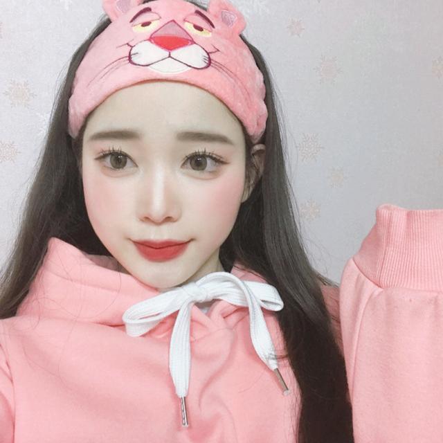 핑크팬더 캐릭터 세안 밴드 - 상품이미지