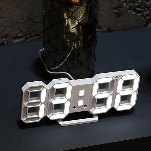 LED 디지털 탁상시계 벽시계 화이트 판매 - 상품이미지