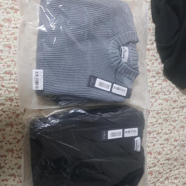 [XXL] 탑스토니 울스웨터 xxl 회색 검은색 - 상품이미지