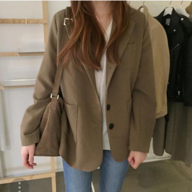 [FREE] 브라운 자켓 - 상품이미지