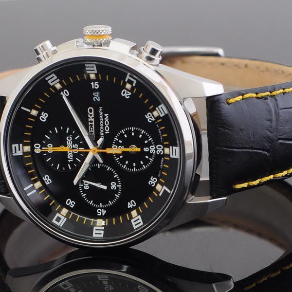 aa96da9083f [정품]세이코시계 남자시계 남성시계 가죽시계 크로노그래프 - 상품이미지 ...