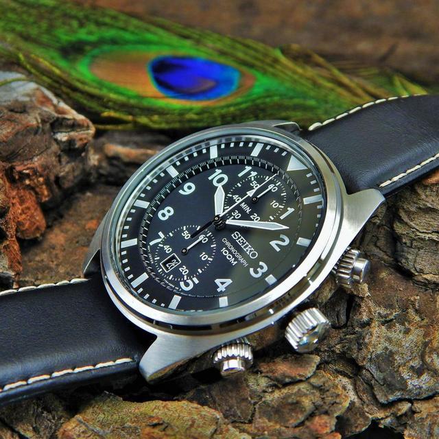 97d8c8dff70 [정품]세이코시계 크로노그래프 남성 가죽시계 43mm 시계선물 - 상품이미지 ...