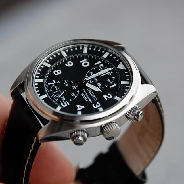 cf1456e71c0 ... 상품이미지; [정품]세이코시계 크로노그래프 남성 가죽시계 43mm 시계선물 ...