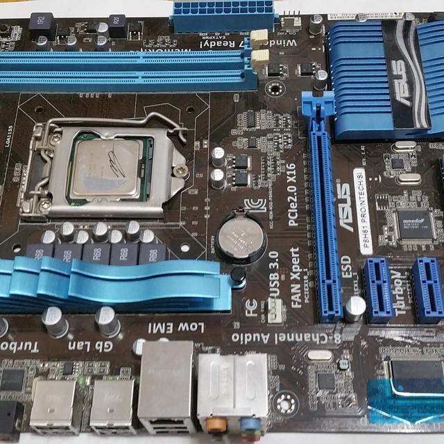 i3-2100 asus p8h61 pro 1155cpu 메인보드