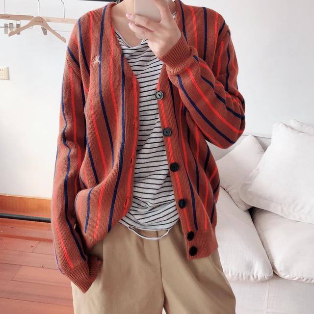 917189a7ca4 ... 55~77☆명품여성의류 가을겨울 연예인코디 여자옷 브이넥스웨터 니트 ...
